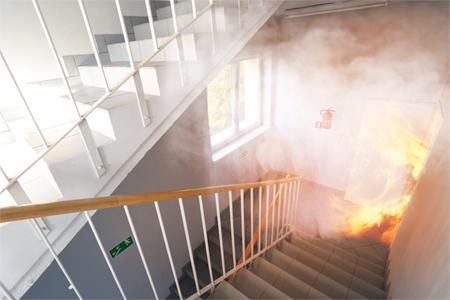 après-sinistre feu